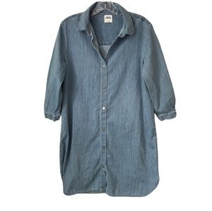 Zara denim Sz. Med Shirt Dress